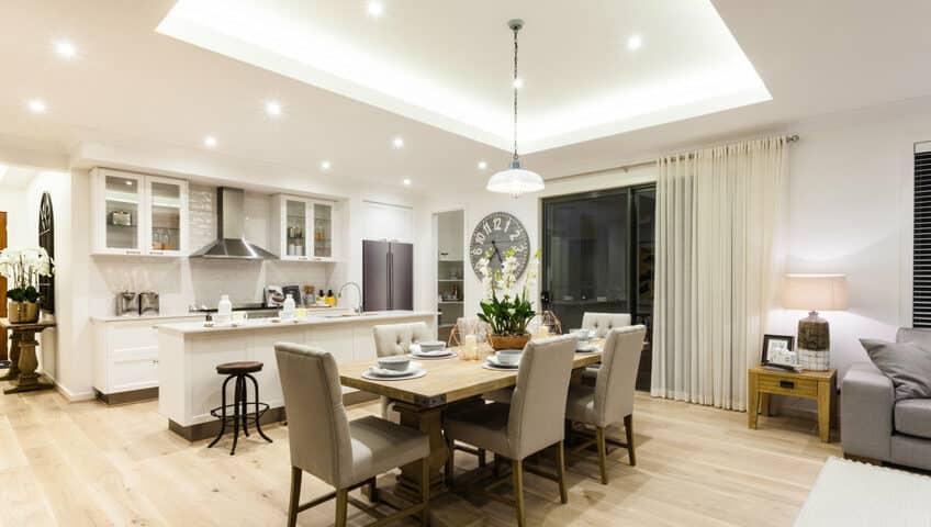 Illuminazione interni per casa moderna