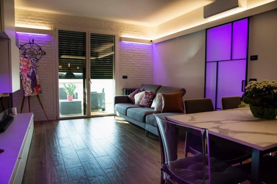 Illuminazione soggiorno con LED